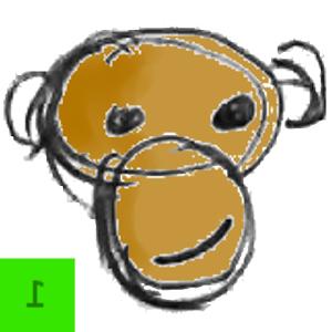 Clever Monkey (HumanVs.Monkey) michelle obama monkey face
