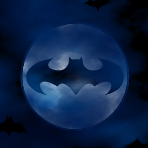3d Bat Signal on Moon - LWP