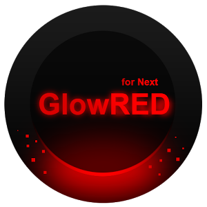 Next Launcher Theme GlowRed