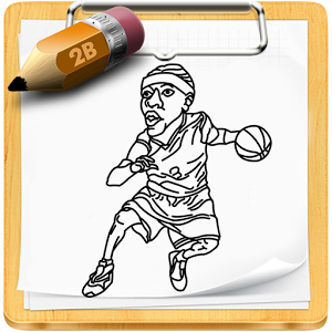 how to draw nba star