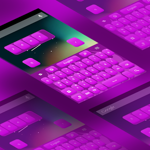 Keyboard Skin Purple