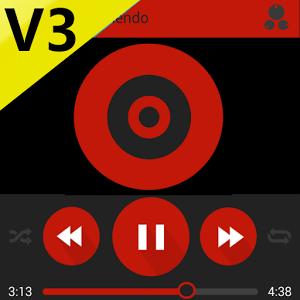 SKIN PLAYERPRO V3 MATERIAL RED