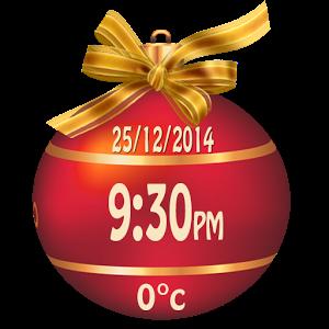 Christmas Weather Clock Widget