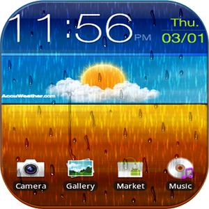 Rainy Screen - Rain On Screen screen