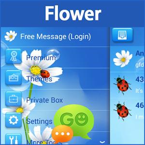 GO SMS Pro Flower flower makhluk zombie