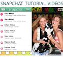 Snapchat Tutorial Videos