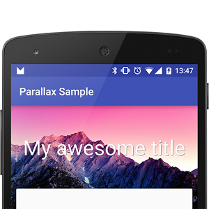 Parallax Library Sample