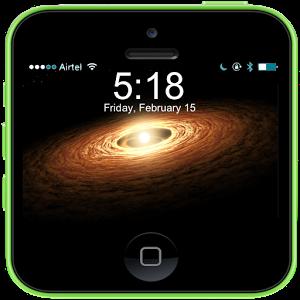 Galaxy Space Lock Screen