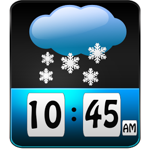 Snow Weather Clock Widget