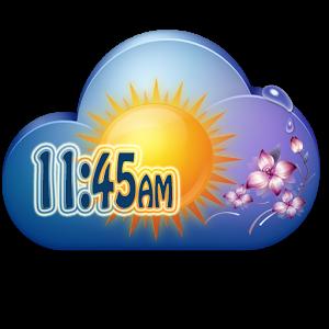 Flower Clock Weather Widget