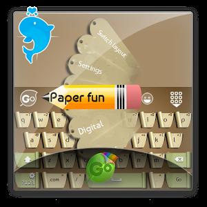Paper fun GO Keyboard