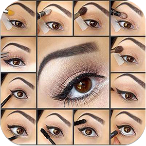 Makeup your Eyes Step by Step direction step
