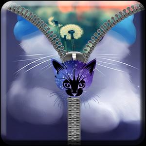 Cat Zipper ScreenLock keyboard rocket screenlock