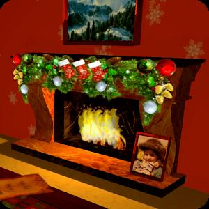 3D Christmas Fireplace HD