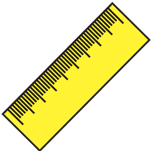 Ruler (cm, inch) famous inch