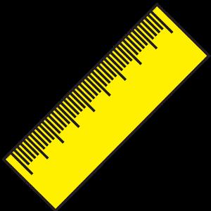 Ruler (cm, inch) inch loyalty theme