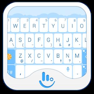 Blue Balloon Keyboard Theme